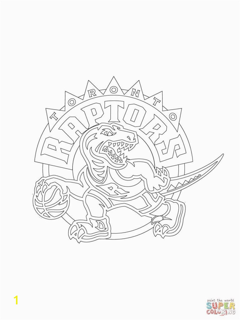 Raptors Logo Coloring Page Best Related Post