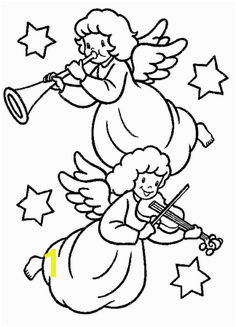 Christmas Angel Who Is Blowing The Trumpet Coloring Page Christmas Artwork Christmas Music Christmas