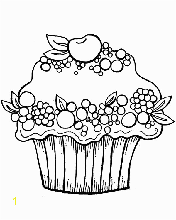 cupcake fruit kleurplaat Cupcake Coloring Pages Free Coloring Pages Free Printable Coloring Pages
