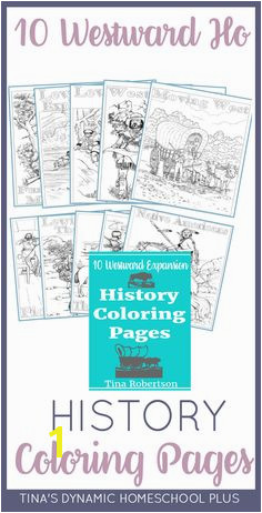 10 Westward Expansion History Coloring Pages