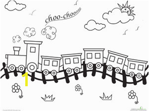 Choo Choo Train Coloring Page Within Train Track Coloring Page