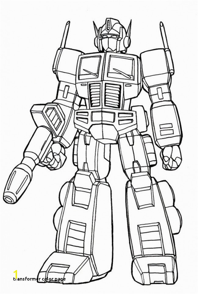 Transformer Color Page Transformer Coloring Pages Optimus Prime New Transformers Prime