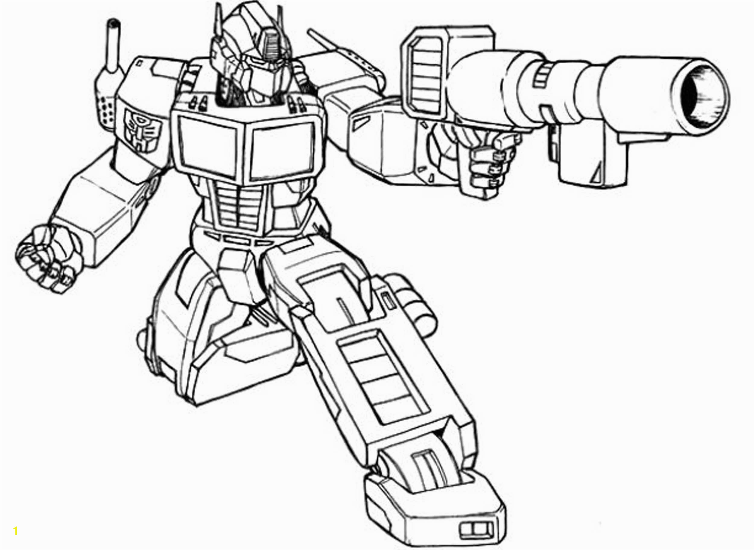Transformer Coloring Pages Optimus Prime Transformer Coloring Pages Sample thephotosync