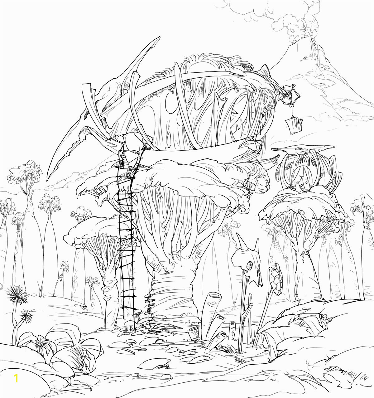 Tree House Coloring Pages Printable for Kids for Related Post
