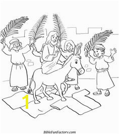 Free Palm Sunday Coloring Sheets Bible Lessons Games and Activities