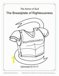 Breastplate of Righteousness Coloring Page