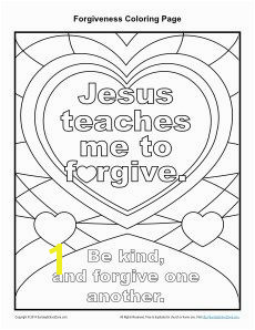 Jesus Teaches Me to Forgive Printable Coloring Page