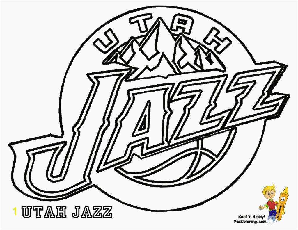 Utah Jazz Coloring Pages Utah Jazz Coloring Pages Best Coloring Page Music Best Pages