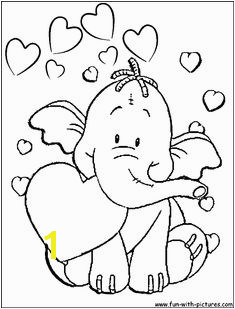 Image detail for Heffalump Valentine Coloring Page of heffalump with valentine hearts Adult Coloring Pages