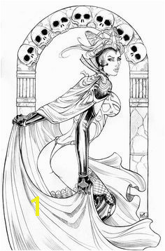 Evilqueen lines Coloring Book PagesColoring