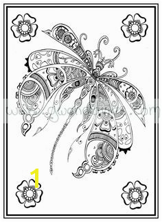 Adult colouring in PDF dragonfly henna zen mandalas garden anti stress mindfulness flowers