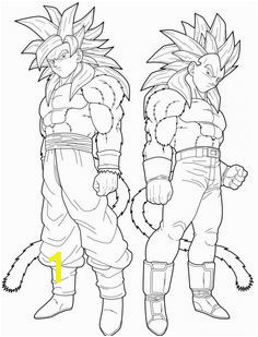 ve a and goku super saiyan 4 coloring pages