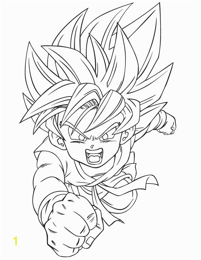 Kid Goku Dragonball Coloring Pages