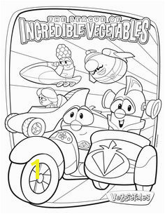 Free VeggieTales Coloring Page Gracie s favorite movie right now Coloring Sheets For Kids