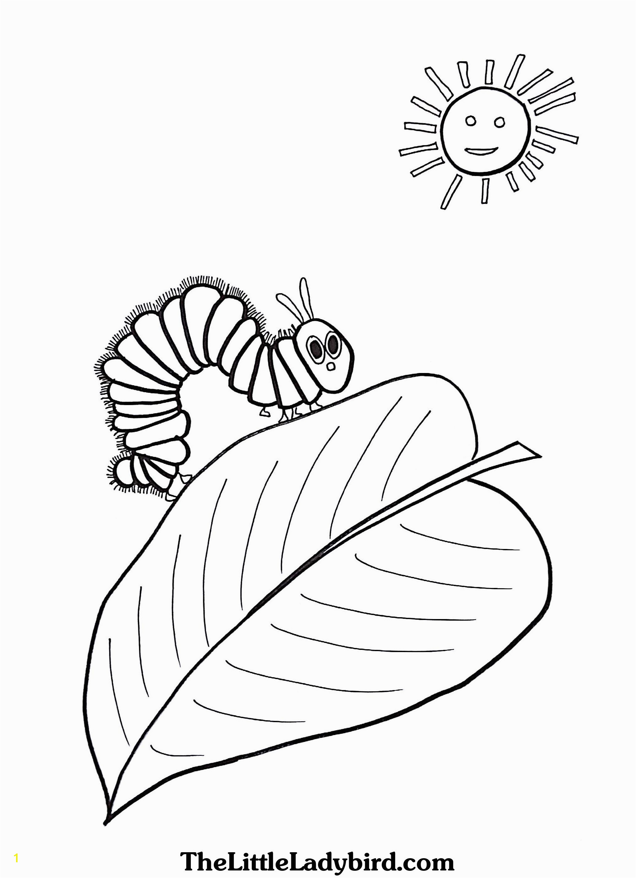 Caterpillar Coloring Page Unique Very Hungry Caterpillar Coloring Pages Heathermarxgallery