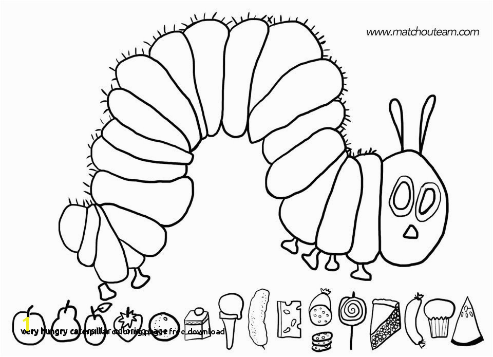 Hungry Caterpillar Coloring Pages Caterpillar Coloring Page Lovely