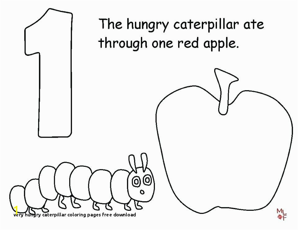 Caterpillar Coloring Page The Very Hungry Llar Coloring Page Get