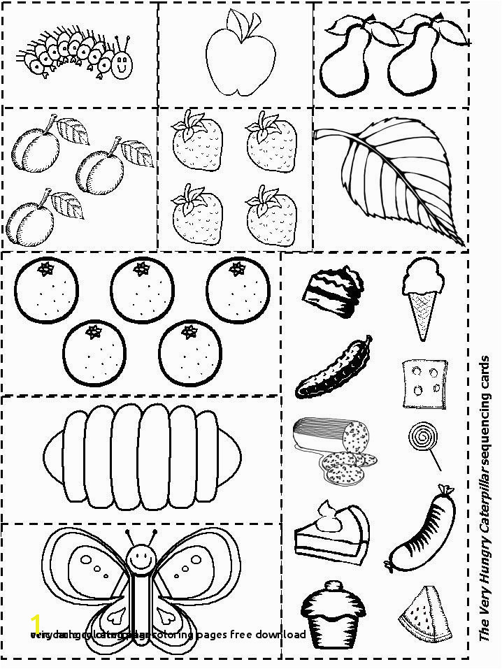 Very Hungry Caterpillar Coloring Page Very Hungry Caterpillar Coloring Pages Free Download 28 Eric Carle