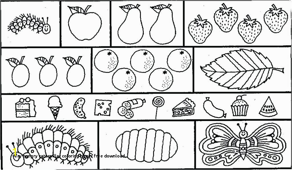 Hungry Caterpillar Printable Coloring Pages Very Hungry Caterpillar