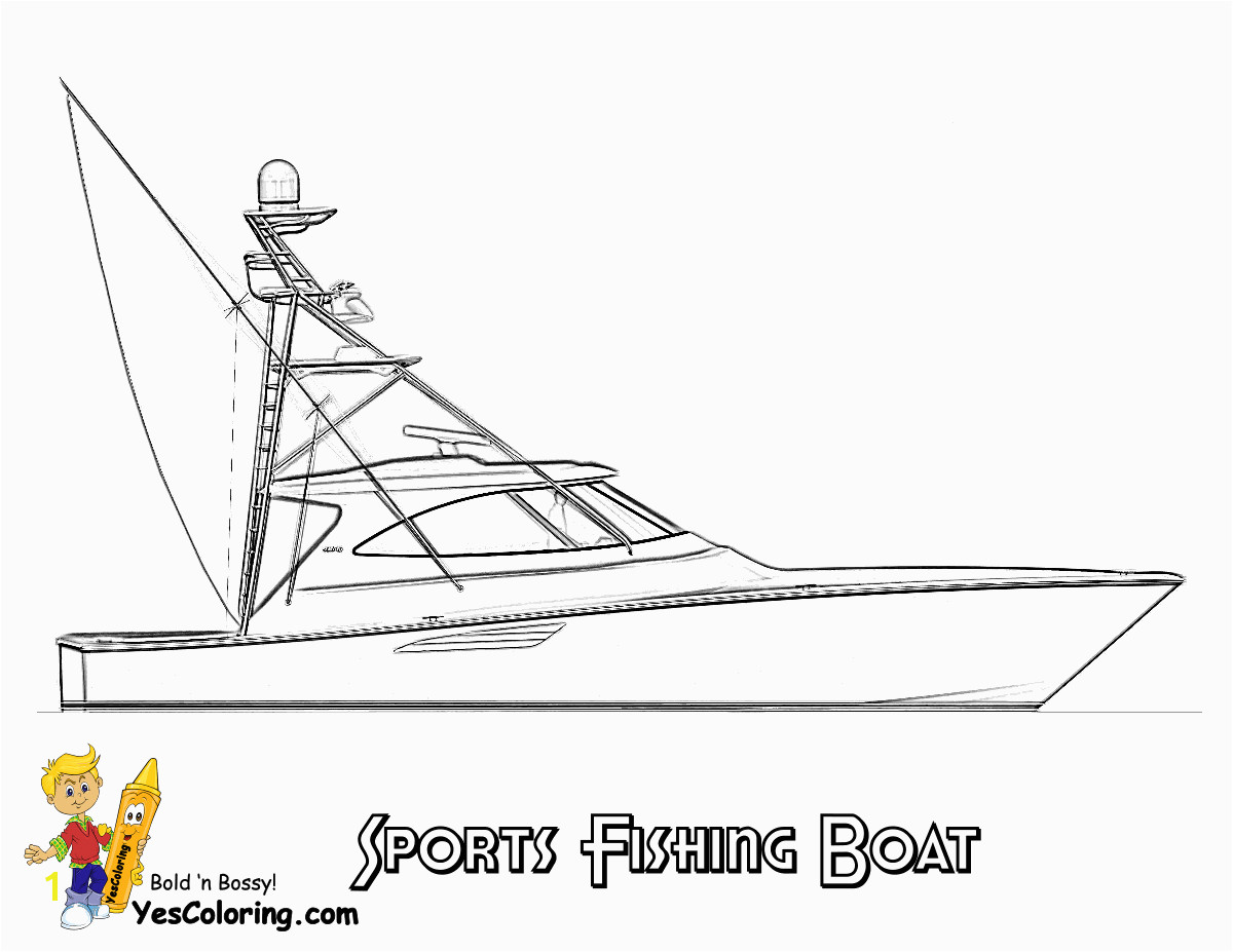 Sportfishing Boat Coloring Picture To Print At YesColoring coloring