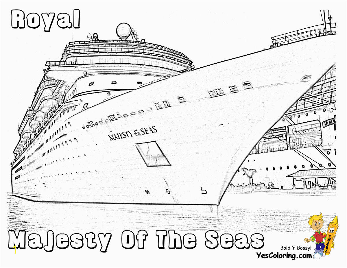Majesty The Seas Cruise Ship Coloring Page