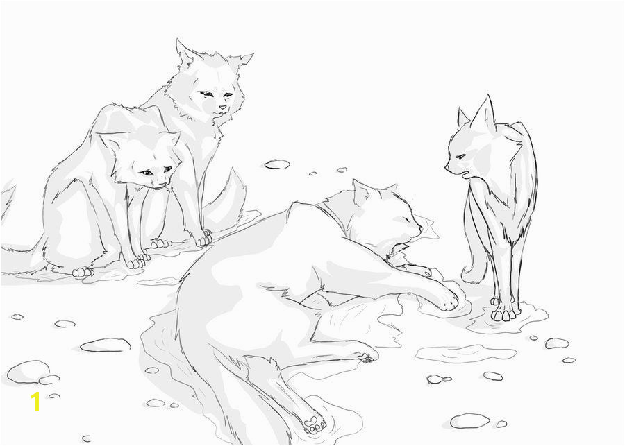 Bluestars line art Warrior Names Cat Coloring Page Coloring Pages Warrior Cats