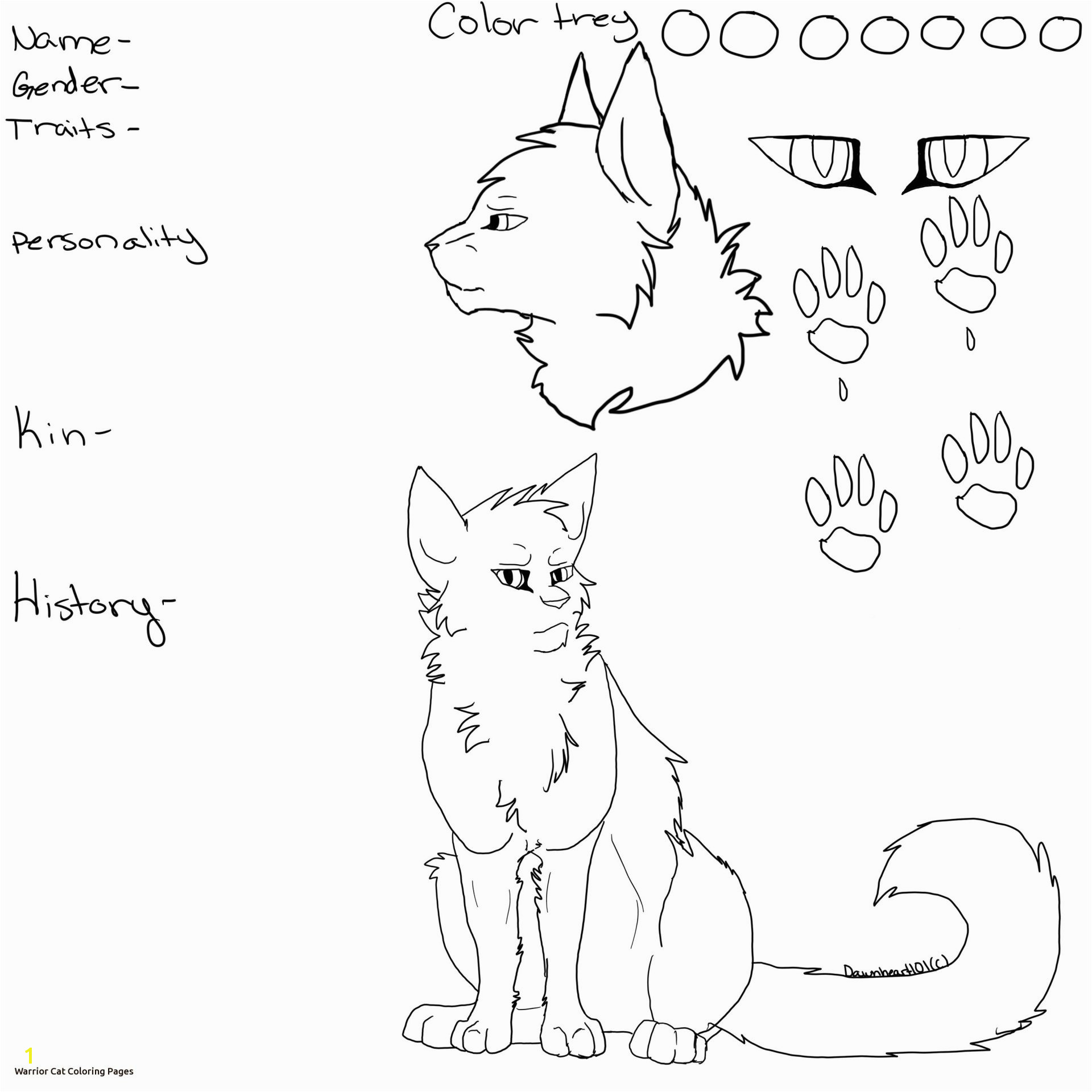 Nice Warrior Cats Clan Coloring Pages Cat Image Design New With
