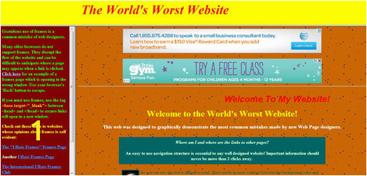 This website certainly doesn t entice such feelings nor does the following mock bad website designed in dull orange
