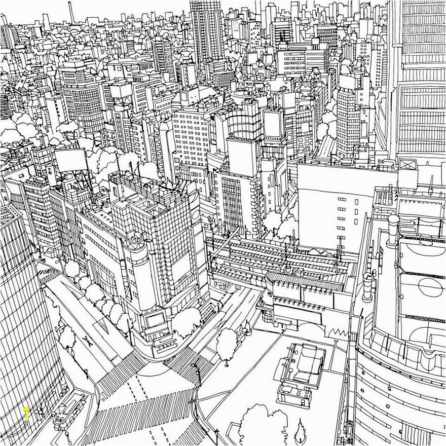 Weird Design Coloring Pages Highly Detailed Coloring Book for Adults Features Famous World