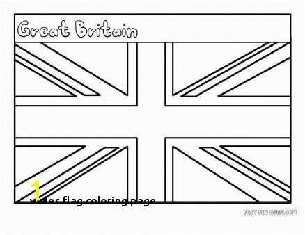 Wales Flag Coloring Page Free Printable Flag Great Britain Coloring Page for Kids