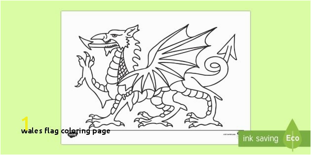 Wales Flag Coloring Page Welsh Dragon Colouring Page St Davids Day Saint David Dydd