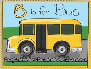 Free printables B is for bus coloring page and letter B activity sheet