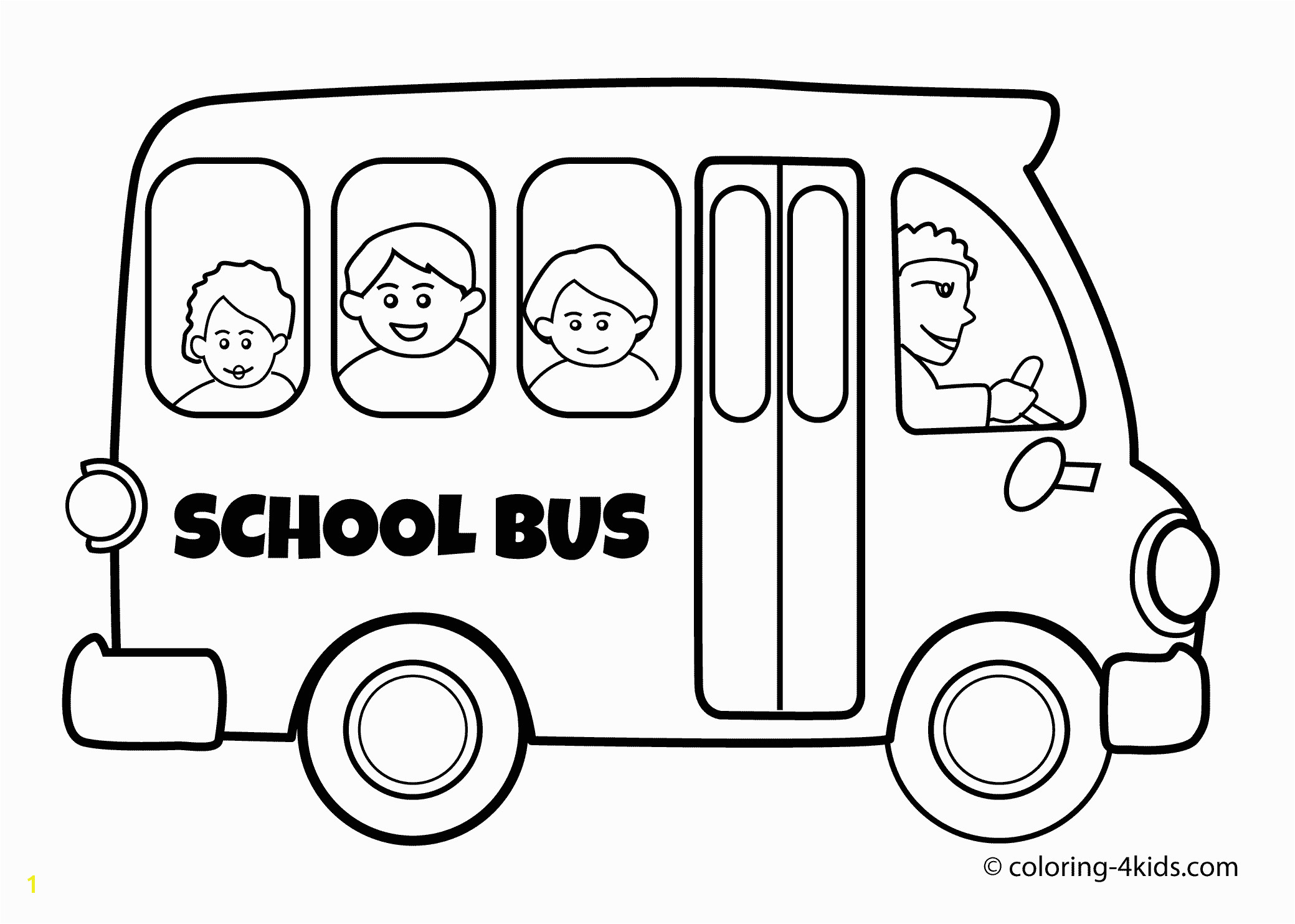 School Bus Coloring Pages To Print Free Books Best Page