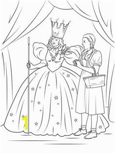 Dorothy with Glinda The Good Witch of The North Coloring page Witch Coloring Pages Coloring