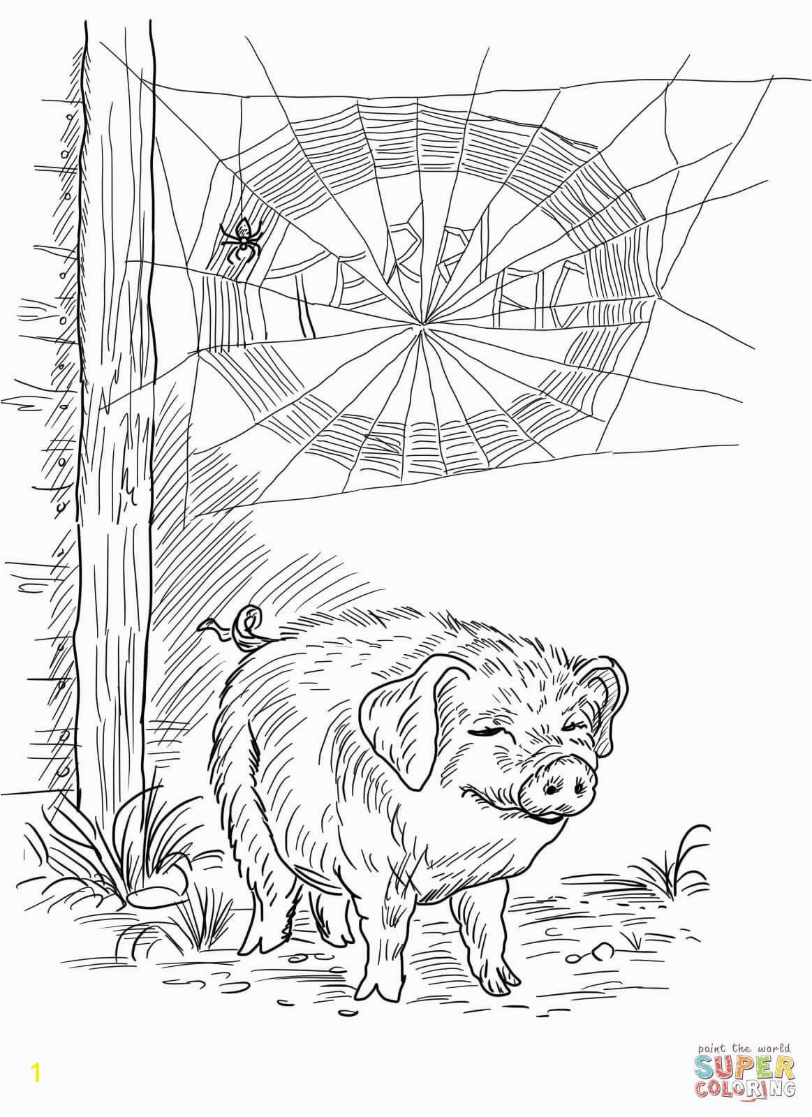 Wilbur the Pig Coloring Page Awesome ¨°'€ ¾'''