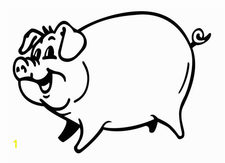 smiling pig Coloring Page