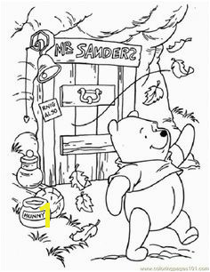 Pooh In Windy Day coloring page for kids and adults from Cartoons coloring pages Winnie The Pooh coloring pages