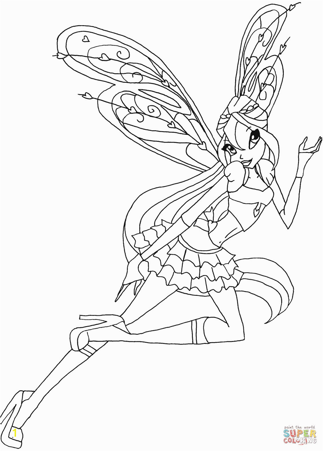 Winx Club Bloom Believix Coloring Pages Divyajanani Org