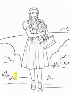 Dorothy Holding Toto coloring page from Wizard of Oz category Select from printable crafts of cartoons nature animals Bible and many more