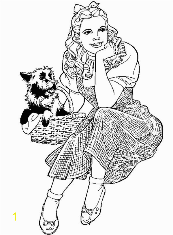 Wizard Of Oz Coloring Pages Dorothy Coloring Pages