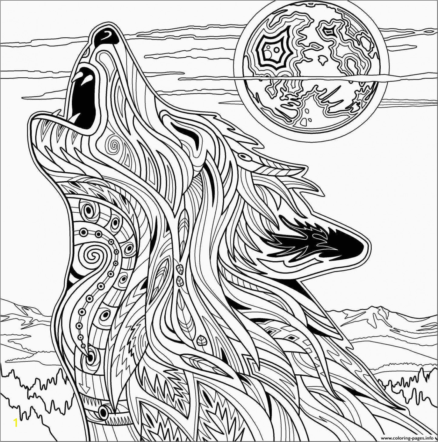 Wolf Coloring Page Wolf Coloring Pages Printable 27w Inspirational Beautiful Fresh Https I Pinimg 736x 0d
