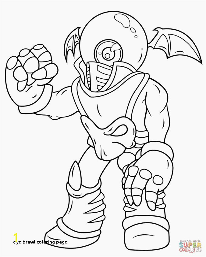 Eye Brawl Coloring Page Unique Skylander Wrecking Ball Coloring Page Image