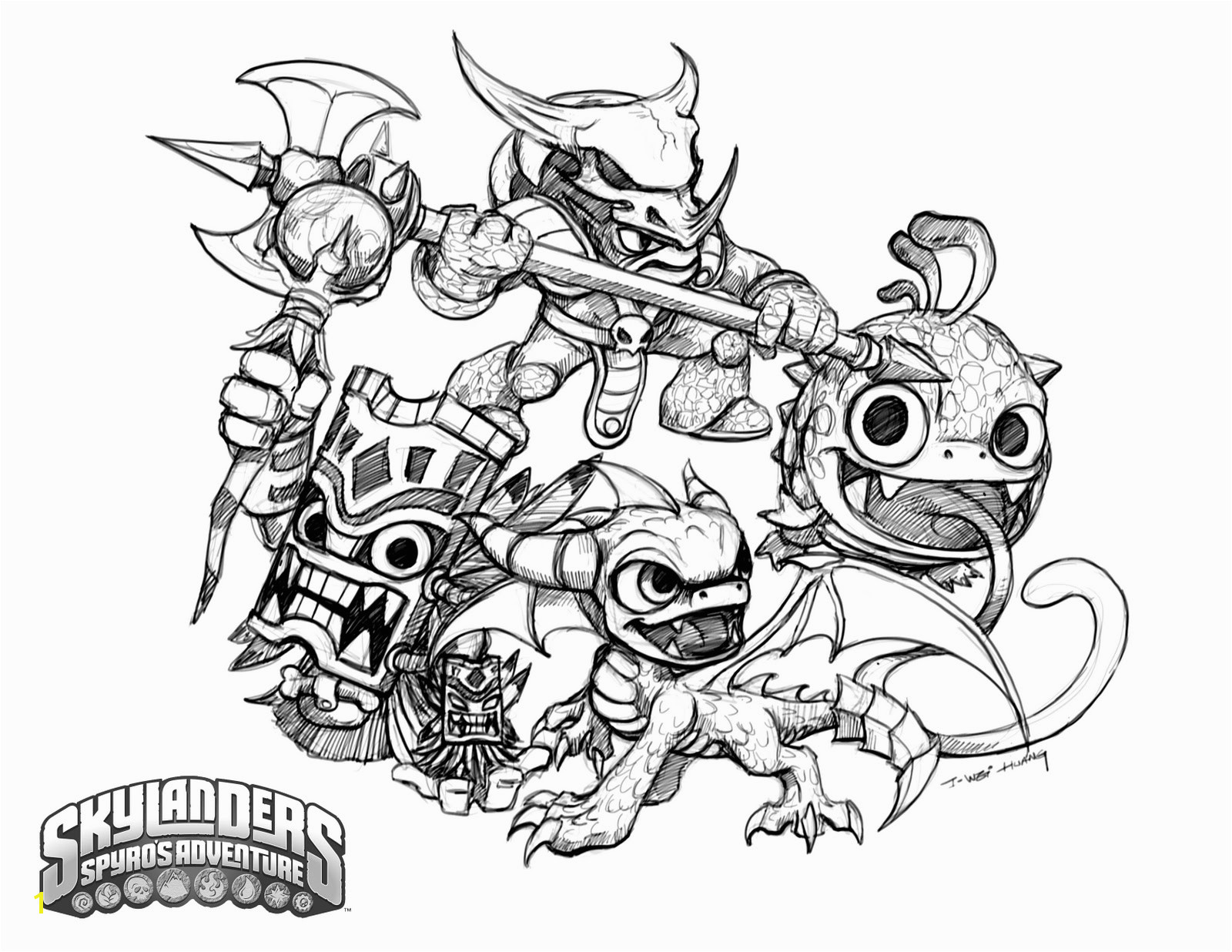 Awesome Skylanders Trap Team Coloring Page