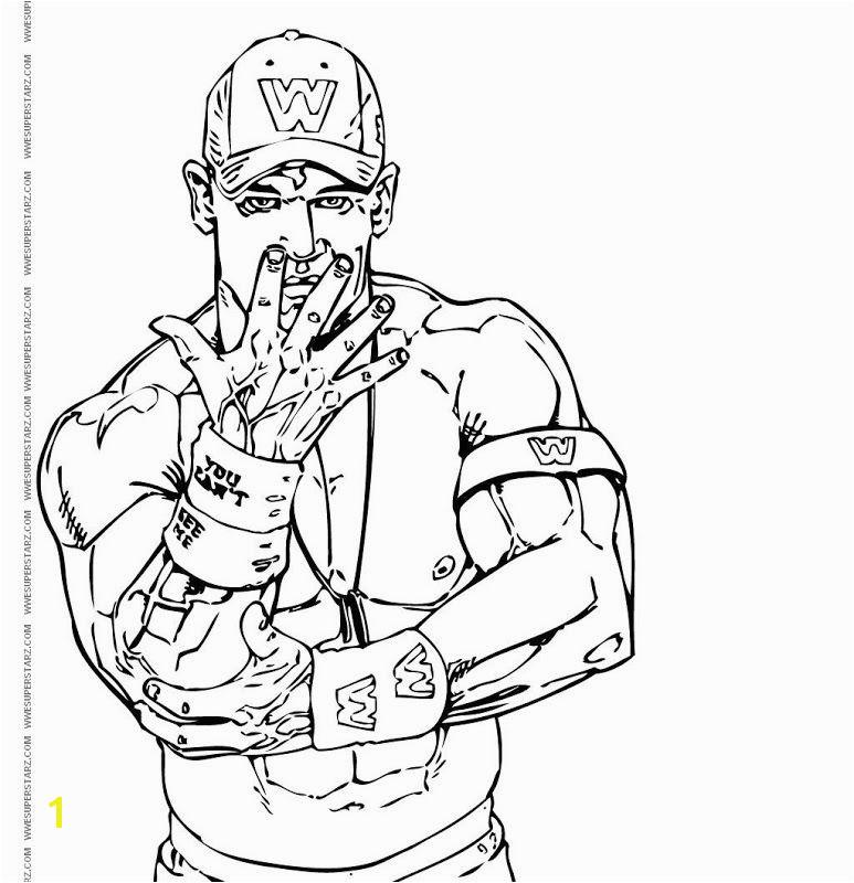 Unique John Cena Coloring Pages 95 About Remodel To Regarding Idea 2 Inside