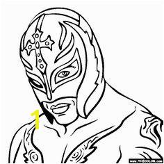 Rey Mysterio Coloring Page Uměn Z Provázků Doodly Wrestling Åpanělská Učebna Umělecké