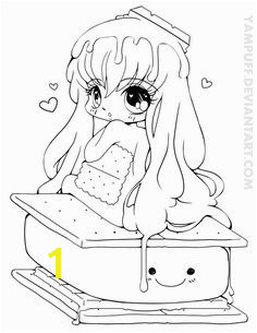 S more Chibi mission Lineart Chibi Coloring PagesBelle