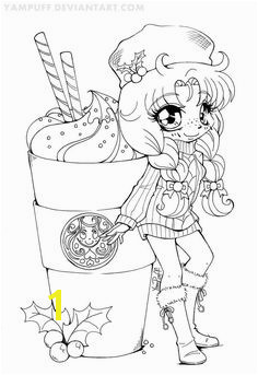 YamBucks Chibi Lineart COLORING CONTEST by YamPuff by AFiskie Chibi Coloring Pages