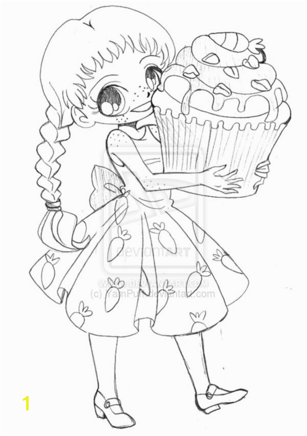 Carrot Cupcake Chibi mission Sketch by YamPuff on DeviantArt