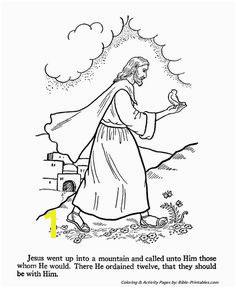 Jesus calls the 12 apostles Jesus Teachings Bible Coloring Pages Life Christ