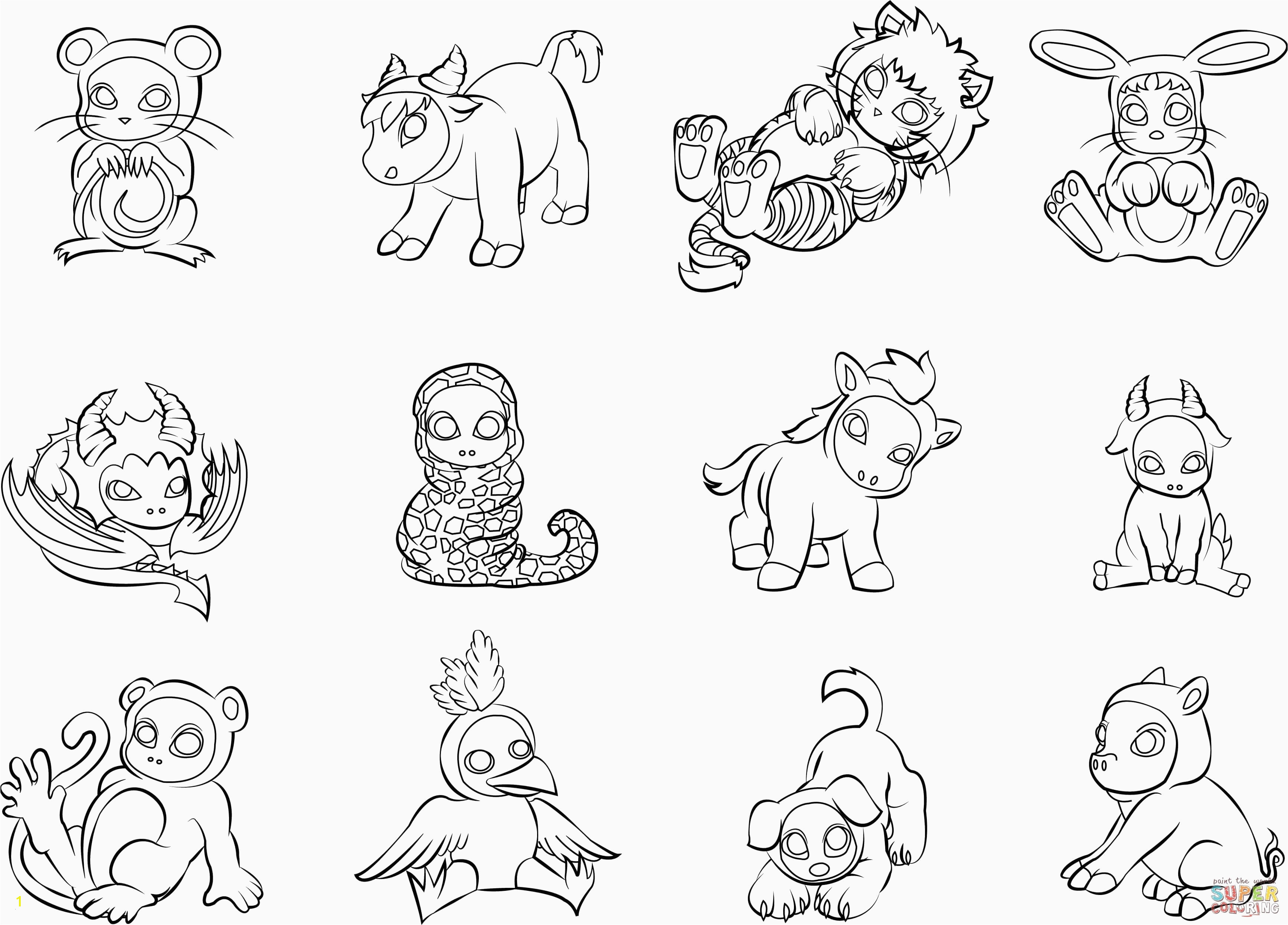 Zoo Animals Coloring Pages Lovely Cute Baby Animal Coloring Pages Elegant New Od Dog Coloring Pages